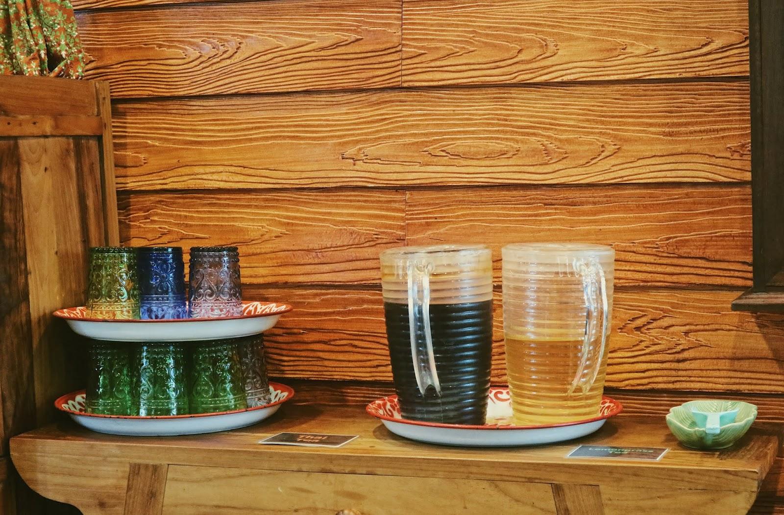 Pandan and ginger tea