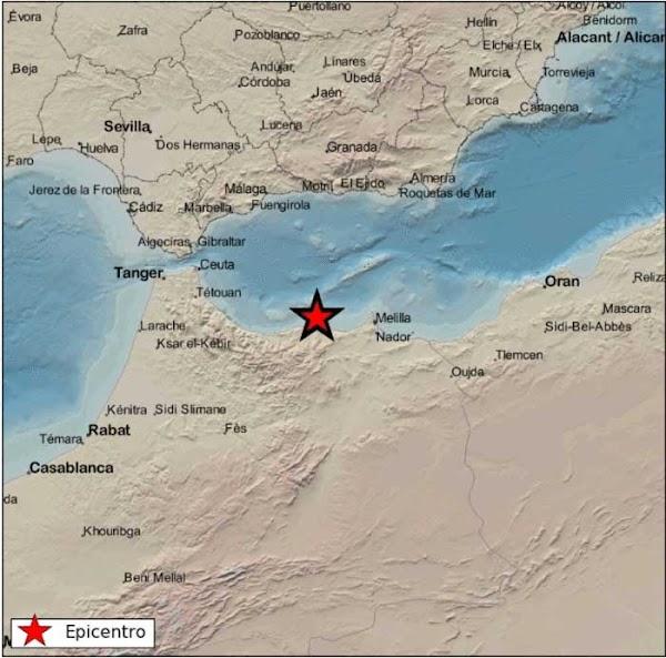Terremoto 4 grados sentido en Alhucemas, Marruecos