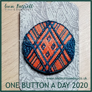 One Button a Day 2020 by Gina Barrett - Day 124 : Lozenge
