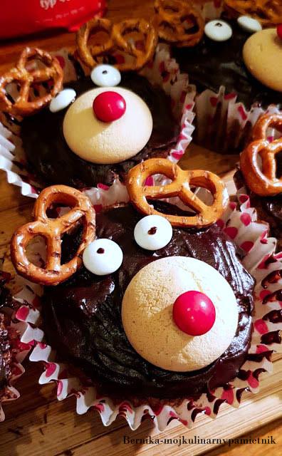 muffiny, babeczki, renifery, czekolada, bernika, kulinarny pamietnik, dzieci