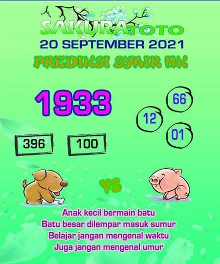 Syair HK Senin 20 September 2021 -