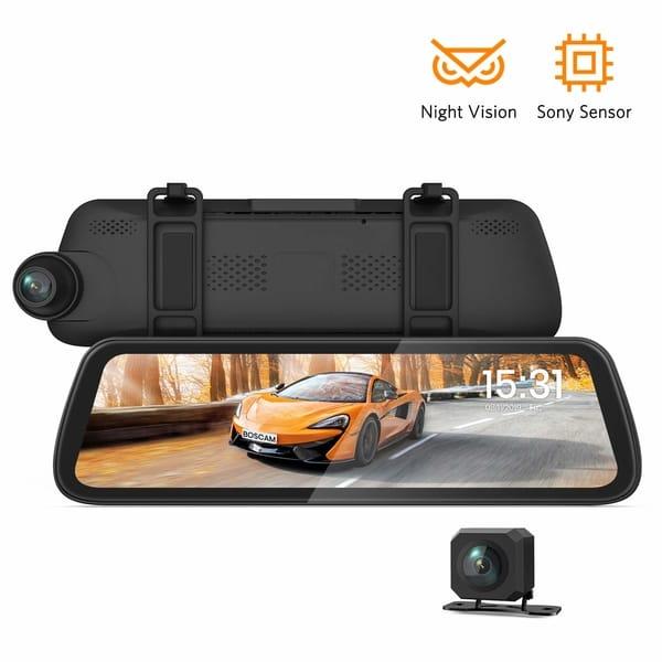 BOSCAM Mirror Dash Cam Camera for Cars