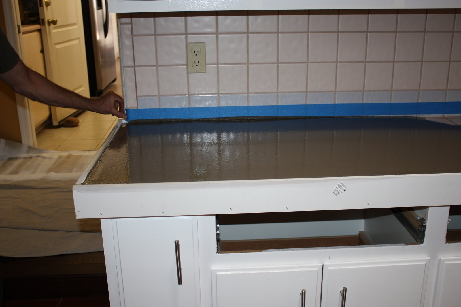 Quick Install Of Concrete Countertops! Kitchen Remodel!