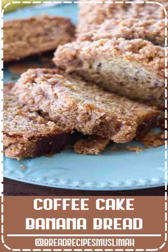 This coffee cake banana bread is a combination of a classic banana bread recipe mixed with a homemade coffee cake recipe! It's like a quick bread meets coffee cake, and it makes for the best breakfast, brunch, or dessert recipe! #bread #recipe #dessert #coffeecake #cake #fall #Bread #Recipes #homemade #sweet
