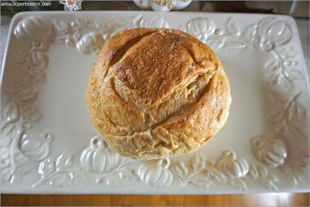 Pan de nuestra Cena de Acción de Gracias en Boston