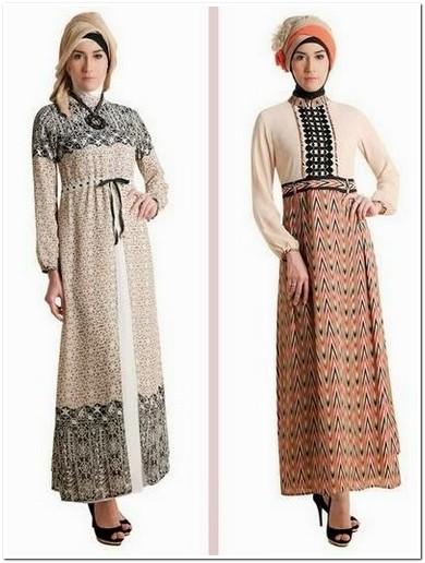 12 Rekomendasi model Gamis Batik Kombinasi Brokat Untuk Pesta