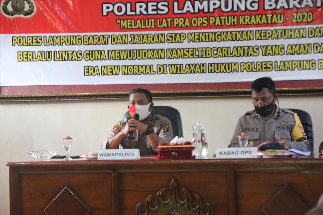 Jelang Operasi Patuh Krakatau 2020, Polres Lampung Barat Menggelar Latpra Ops
