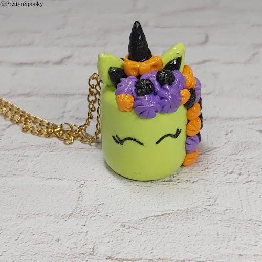 Crafty Dealer Chick | Zombie Unicorn Cake Necklace
