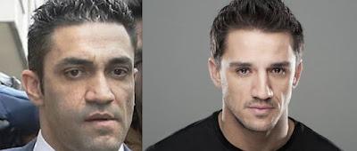 El actor Carlos Librado y el chófer/segurata/espía Sergio Ríos