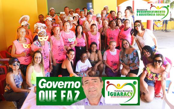 Governo Municipal de Iguaracy realizou Dia de Folia para os idosos do Grupo Luz do Sol.