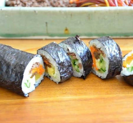 Kimbap – Seaweed Rice Roll #dinner #veggies