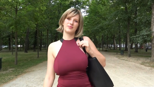 Busty blonde, Milena went home with two guys and had a wild threesome with them