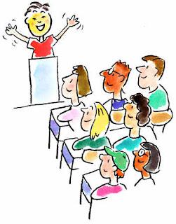 Speaker addressing an audience