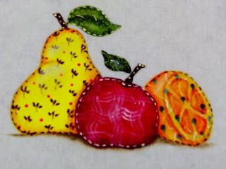pintura em tecido frutas pintadas em estilo folk