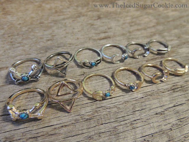 Boho Midi Rings by The Iced Sugar Cookie- Bohemian, Tribal, Turquoise, Arrow, Moon, Indian, Coachella, Fashion Looks