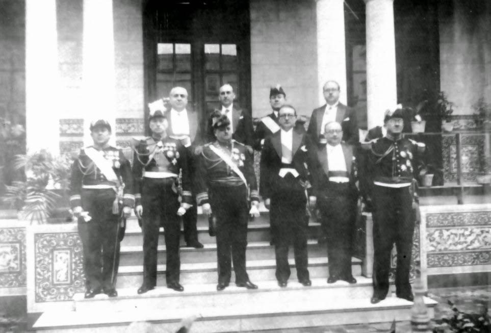 El general Óscar R. Benavides y su gabinete ministerial. Lima, 1933