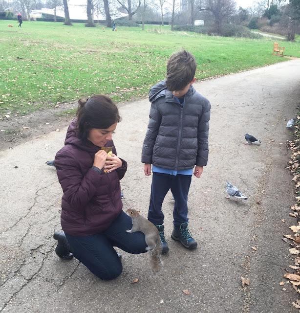 Hyde Park: pensa num esquilo ousado!
