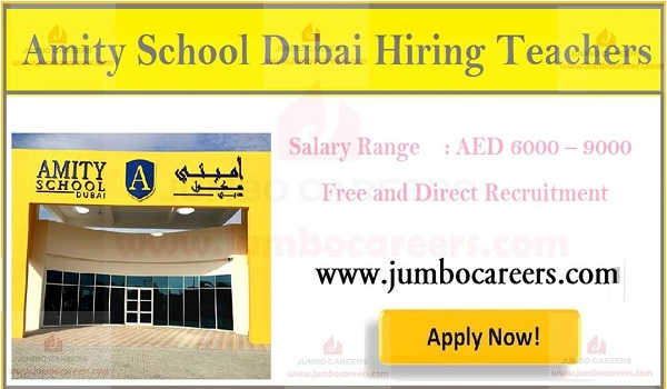 Current school job in Dubai, Latest job openings in Gulf countries,