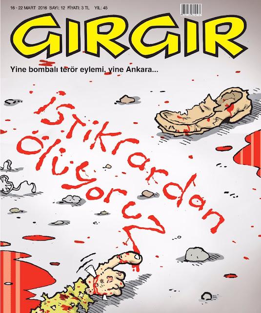 Gırgır Dergisi - 16-22 Mart 2016 Kapak Karikatürü