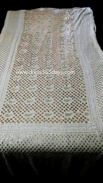 Heavy Pure Georgette Chikankari Unique Dupatta