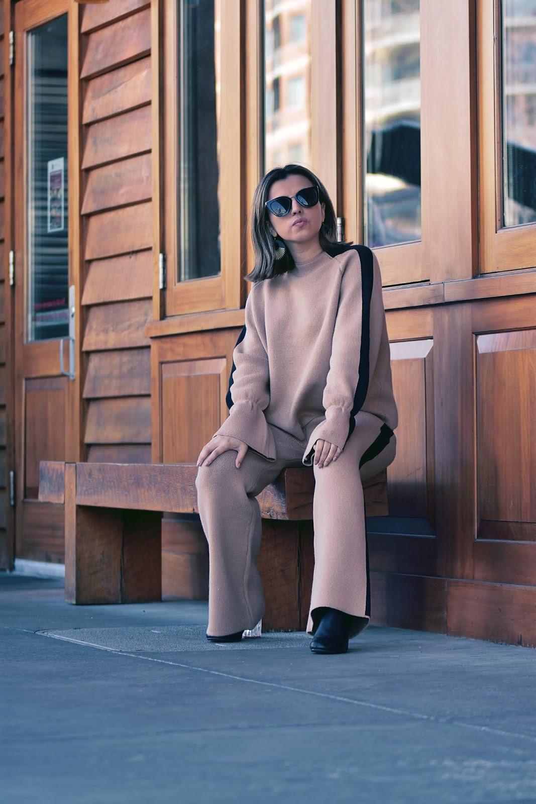 Contrast Panel Flounce Sleeve Sweater & Sweater Pants by Mari Estilo-dcblogger-modaelsalvador-streetstyle-sheingals-marisolflamenco-youtuber-moda-shein-