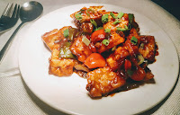 Chilli paneer recipe serve in a plate chilli paneer dry recipe