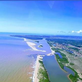 Nossa linda Foz do Rio Paraíba do Sul, lado Norte ,Gargaú, São Francisco de Itabapoana.