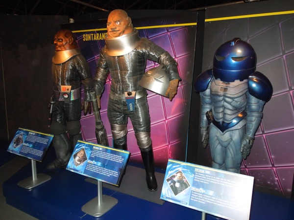 Doctor Who Sontaran costumes 1973 - 2008