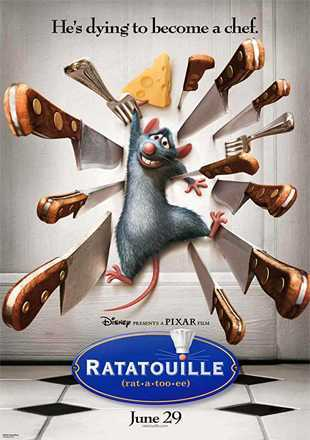 Ratatouille 2007 BRRip 720p Dual Audio In Hindi English ESub