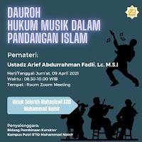 Daurah Hukum Musik dalam Pandangan Islam