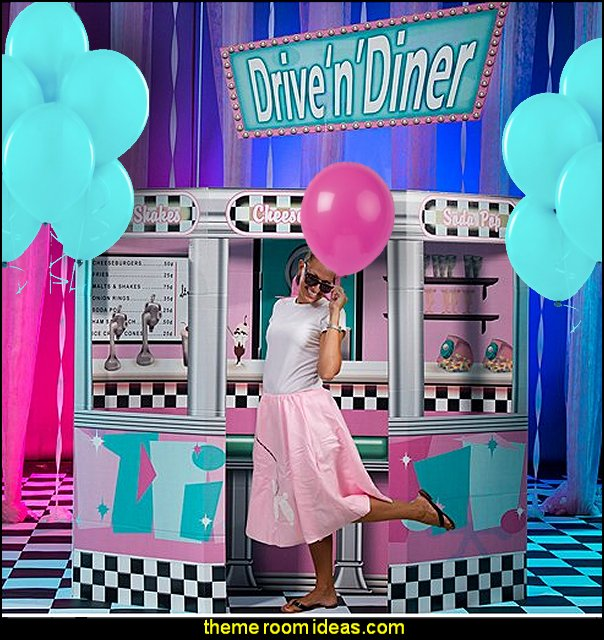 50s diner party  50s party ideas - 50s party decorations  50s Costume - 1950s Theme Party - 1950's Rock and Roll Themed Party Supplies - 50s Rock and Roll Theme Party - 50s party decorations - 50s party props - 50s diner party