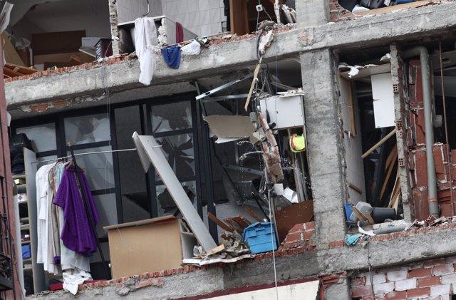 Foto edificio explosion madrid 1