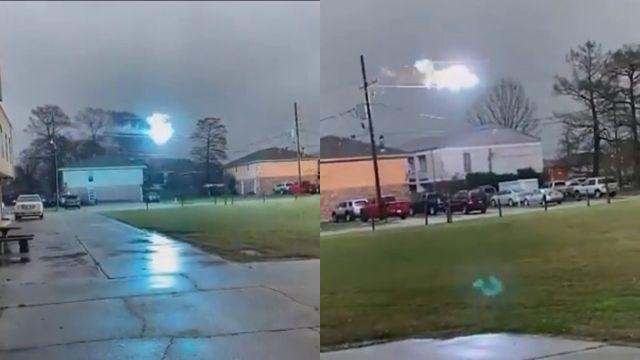 Chispas eléctricas masivas vuelan a través de líneas eléctricas en Louisiana – 15 febrero 2021