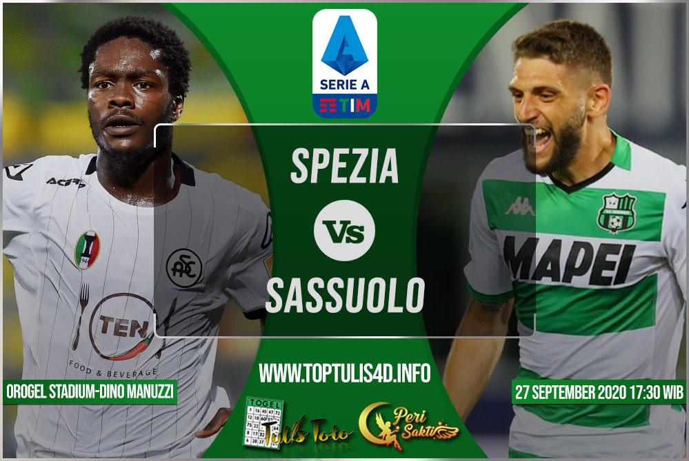Prediksi Spezia vs Sassuolo 27 September 2020