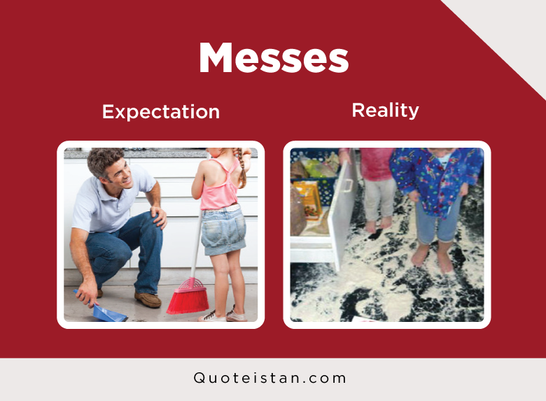 Expectation Vs Reality :Messes