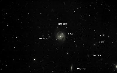M 100, NGC4312 ...