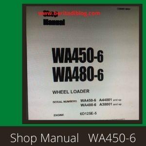 Komatsu wa450-6 wa480-6 shop manual wheel loader komatsu