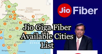 Jio Fiber Cities List