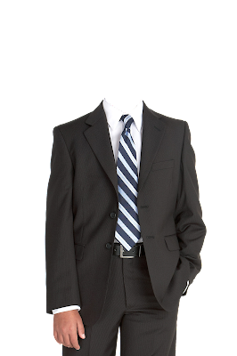 Contoh template gambar baju jas pria kancing terbuka png
