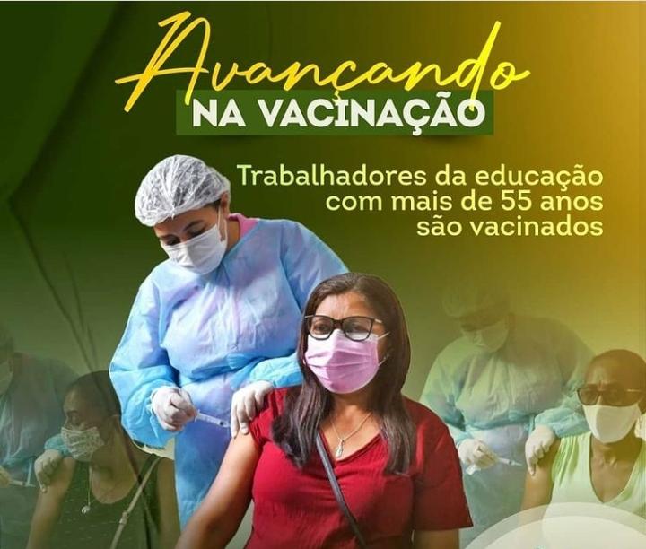 Prefeitura de Esperantinópolis inicia vacinação de trabalhadores da educação com 55 anos ou mais