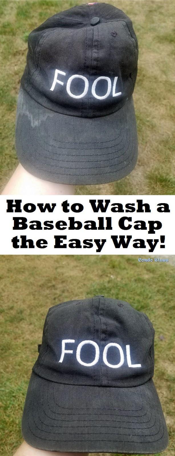how do you wash a baseball cap