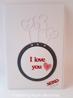 Liebe, Valentinstag, XCUT, Gummiapan, Sizzix, love, xoxo