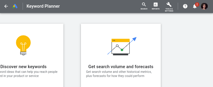 Google Search Console - keyword research tools