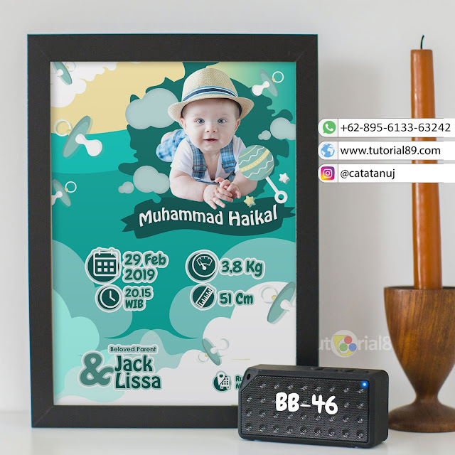 Biodata Bayi Costume Unik Kode BB46 | Biru Putih