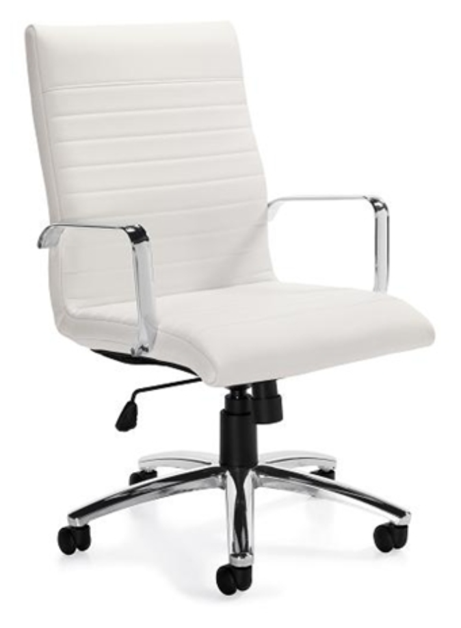 Offices To Go White Ribbed Executive Chair