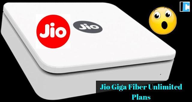 Jio Giga Fiber Unlimited Plans | Jio landline internet plans