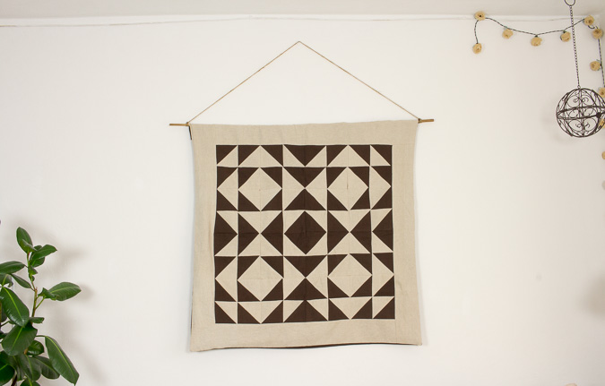 Wandteppich Quilt geometrische Muster