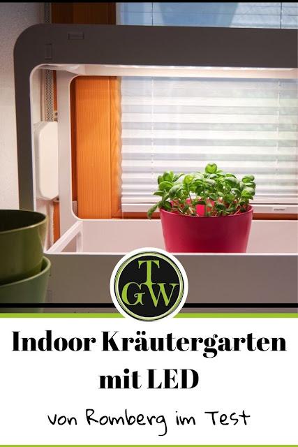 Der Indoor-Kräutergarten mit LED-Beleuchtung von Romberg für stets frische Küchenkräuter. #indoorgarten #küchenkräuter #beleuchtung