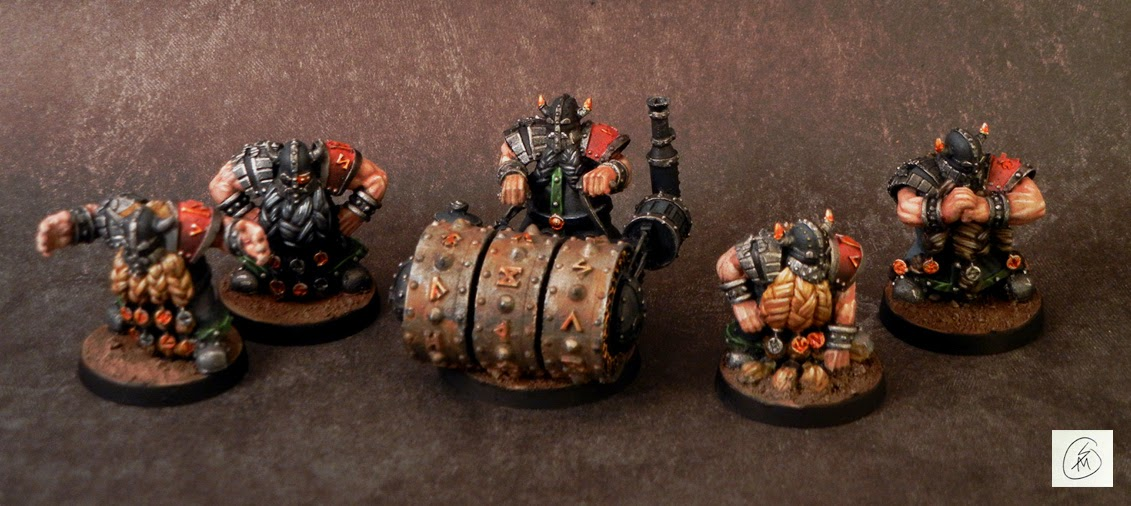 samson minis: Finished! Dwarves Fantasy Football Team