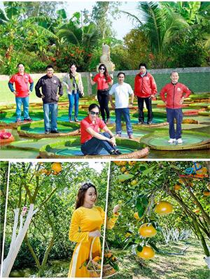 Tour Du lịch miền Tây - Đồng Tháp - Làng Hoa Sa Đéc - Vườn Quýt Hồng Lai Vung - Chùa Lá Sen